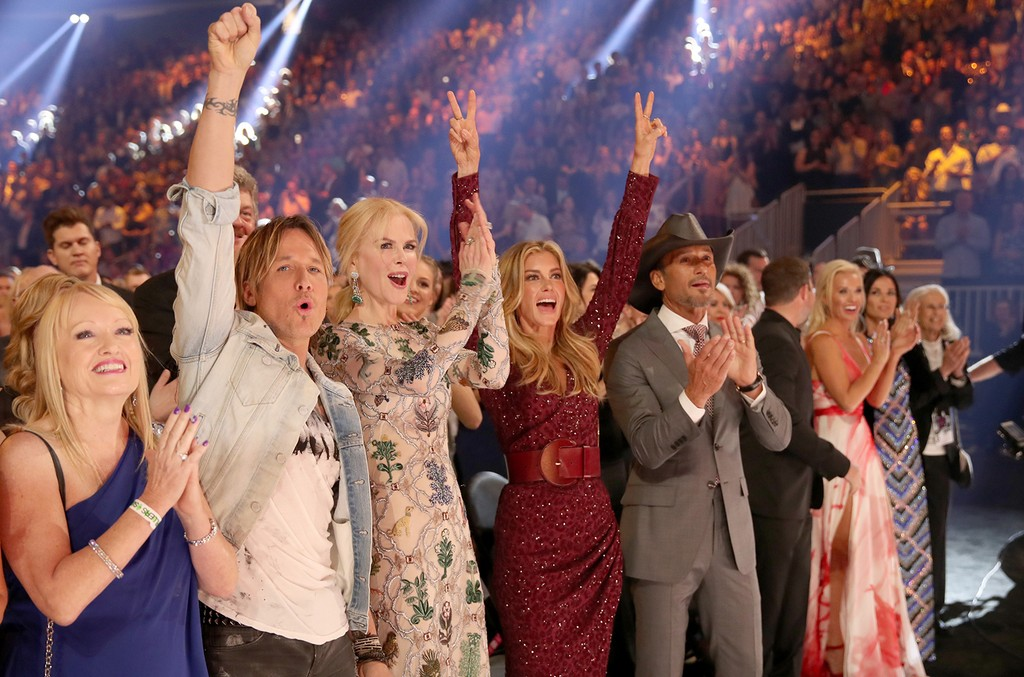 Keith Urban, Nicole Kidman, Faith Hill and Tim McGraw attend the 52nd Academy Of Country Music Awards at T-Mobile Arena on April 2, 2017 in Las Vegas.