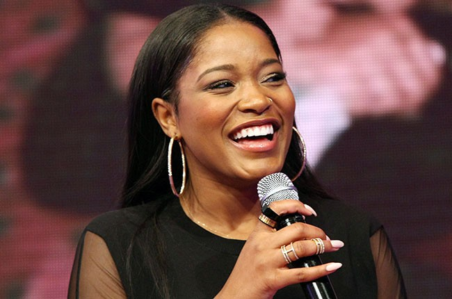 KeKe Palmer visits 106 & Park at BET studio