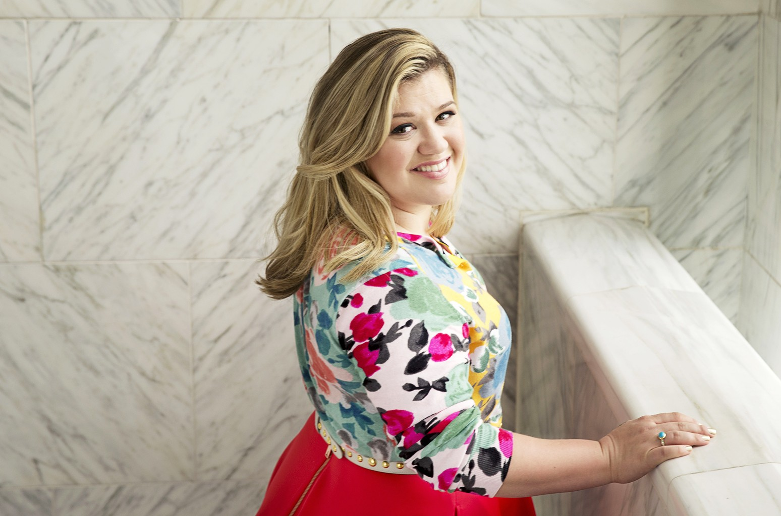 Kelly Clarkson photographed at the Sony Club in New York City on March 4, 2015.