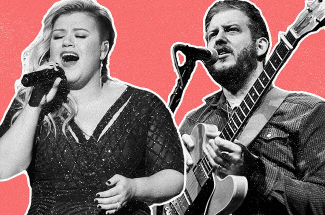Kelly Clarkson and Bon Iver 2015