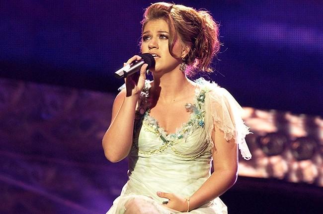 "Kelly Clarkson during ""American Idol"" Season 3 Finale 2001"