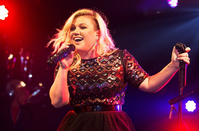 Kelly Clarkson performs on stage at G-A-Y