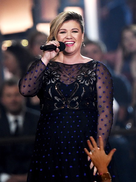 Kelly Clarkson speaks onstage during the 50th Academy Of Country Music Awards