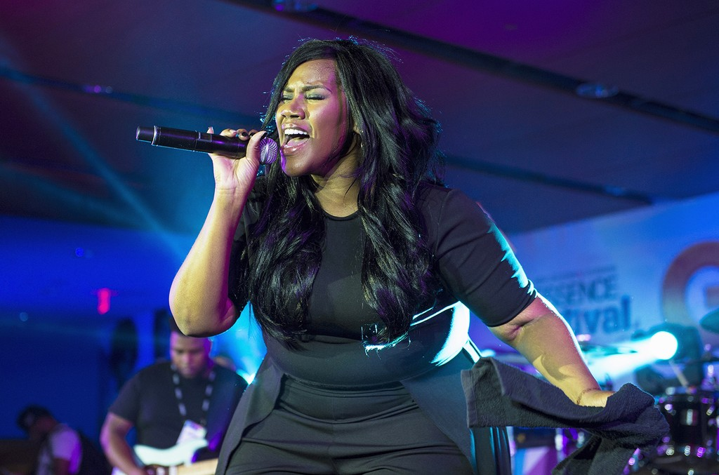 Kelly Price performs at the Mercedes-Benz Superdome on July 1, 2016 in New Orleans.