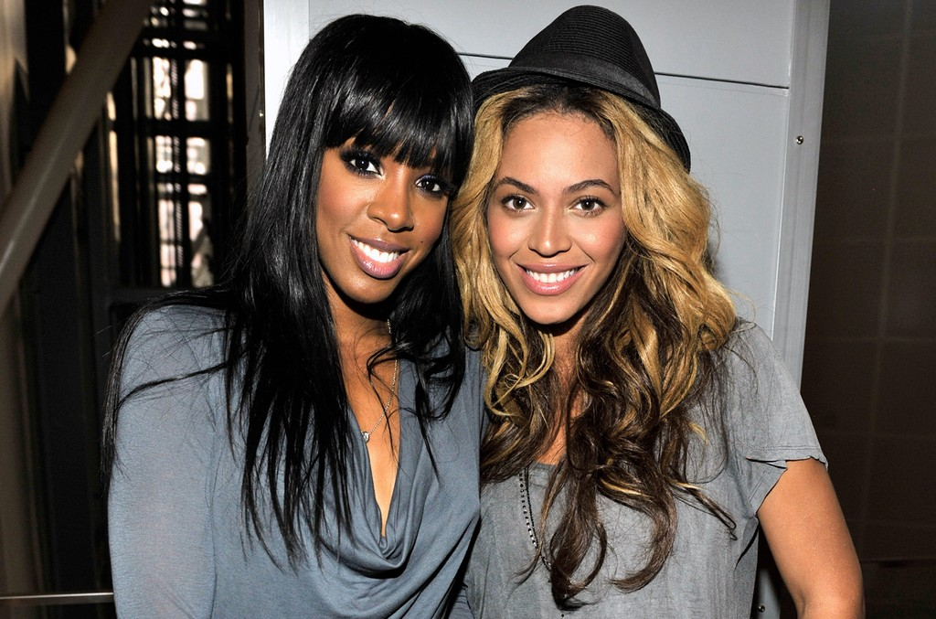 Kelly Rowland and Beyonce