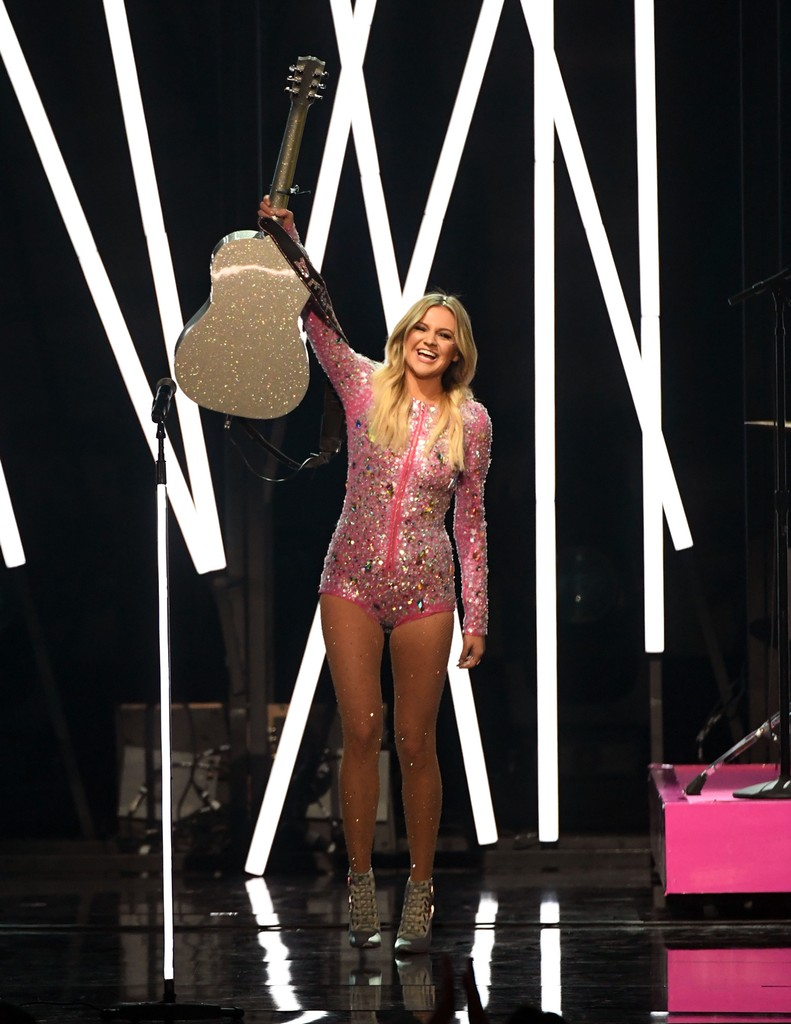 Kelsea Ballerini performs onstage during the 52nd Academy Of Country Music Awards at T-Mobile Arena on April 2, 2017 in Las Vegas.