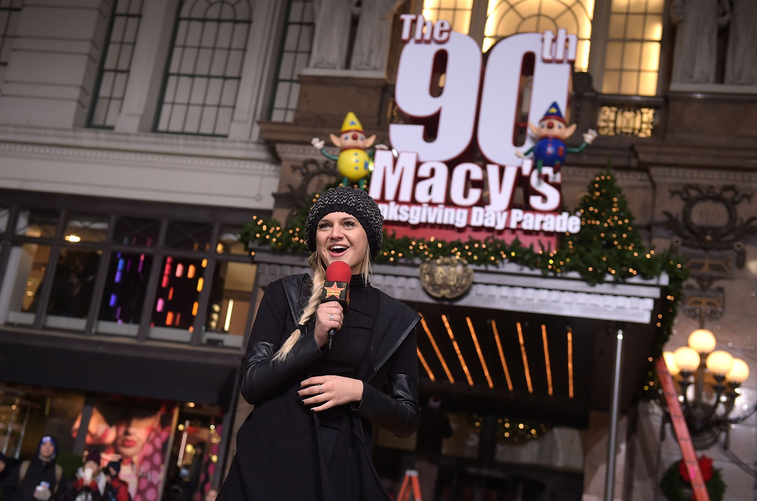 Kelsea Ballerini attends the 90th Anniversary Macy's Thanksgiving Day Parade Rehearsals - Day 2 at Macy's Herald Square on Nov. 22, 2016 in New York City.