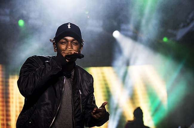 Kendrick Lamar performs during the Cleveland Cavaliers & Turner Sports Home Opener Fan Fest