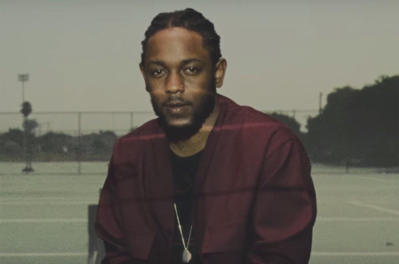 Kendrick Lamar in an ad for Reebok.