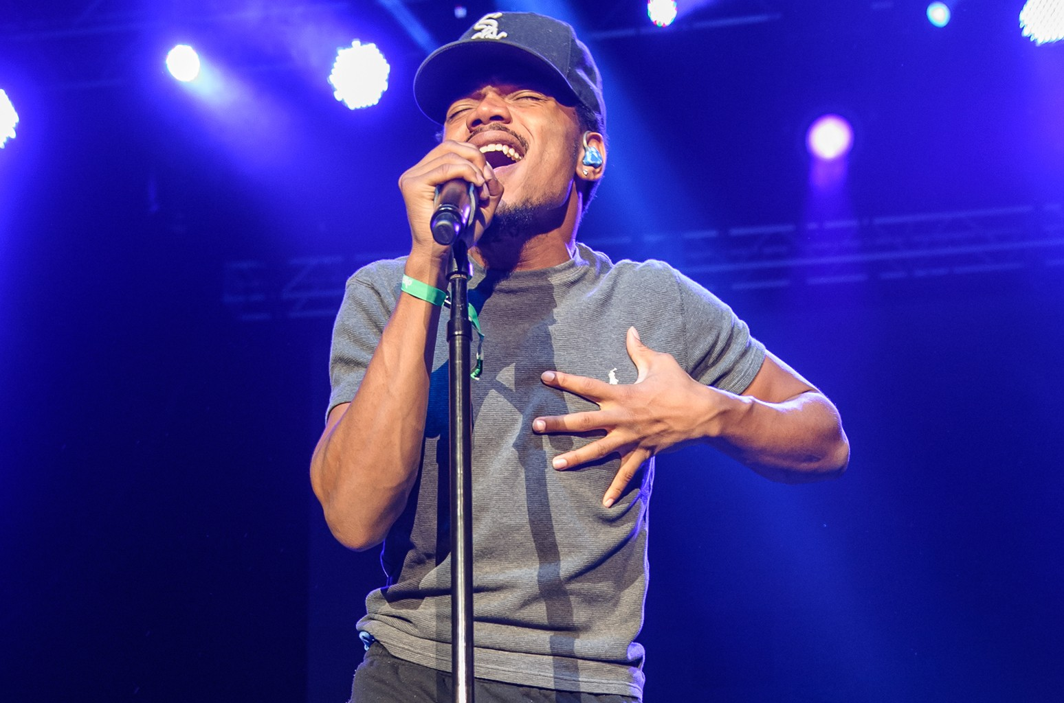 Chance The Rapper performs at the 2015 Trillectro Festival