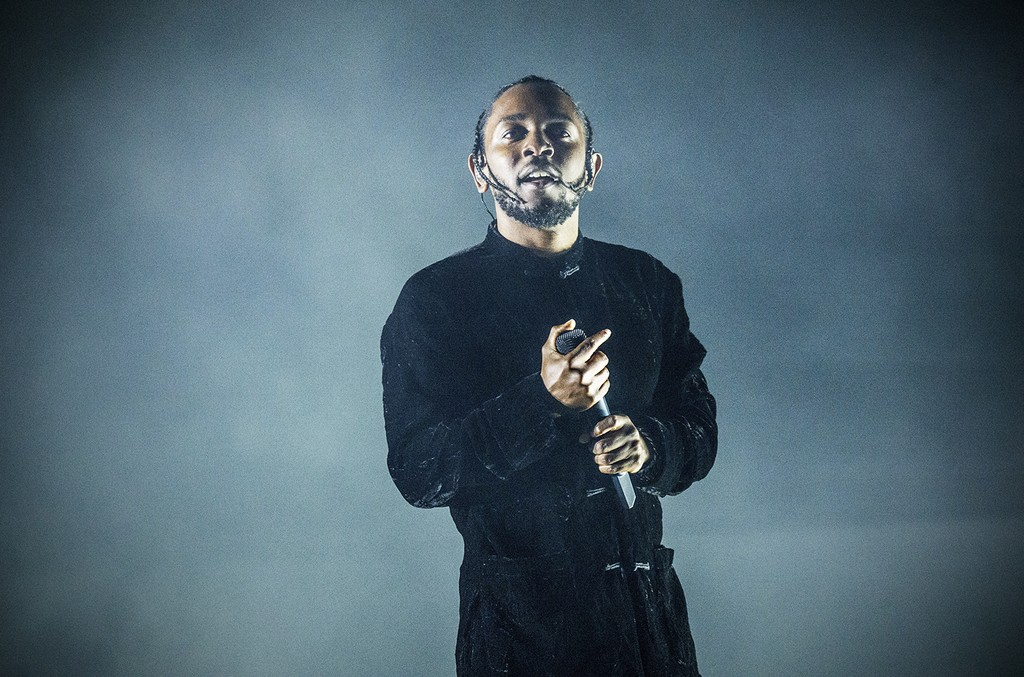 Kendrick Lamar performs at Coachella Music & Arts Festival at the Empire Polo Club on April 16, 2017 in Indio, Calif.