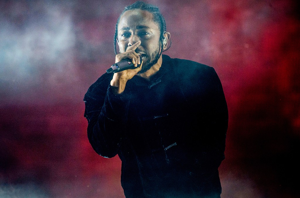 Kendrick Lamar performs at Coachella Music & Arts Festival at the Empire Polo Club on April 16, 2017, in Indio, Calif.