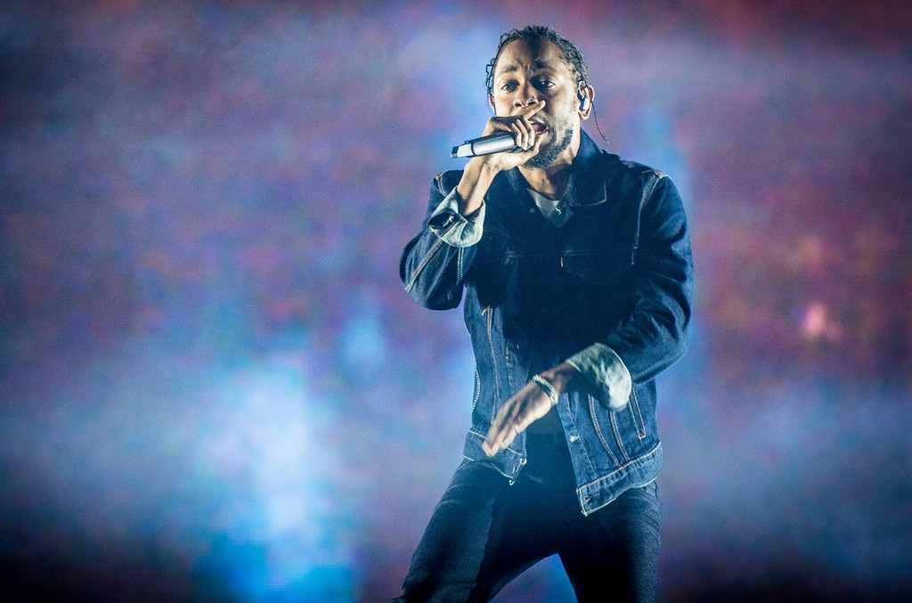 Kendrick Lamar performs during the 50th Festival D'ete De Quebec on the main stage at the Plaines D'Abraham on July 7, 2017 in Quebec City, Canada.