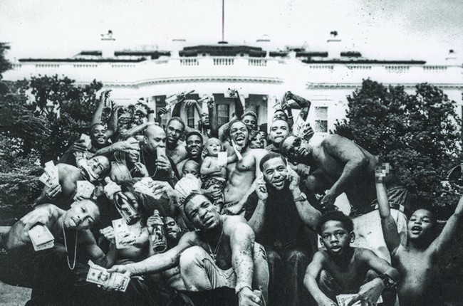 """The cover art for Kendrick Lamar's 2015 album """"To Pimp A Butterfly."""""""