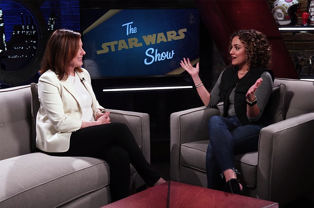 Kathleen Kennedy on The Star Wars show.