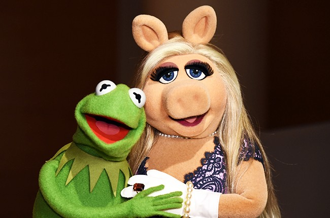 Kermit the Frog and Miss Piggy in Brooklyn 2015