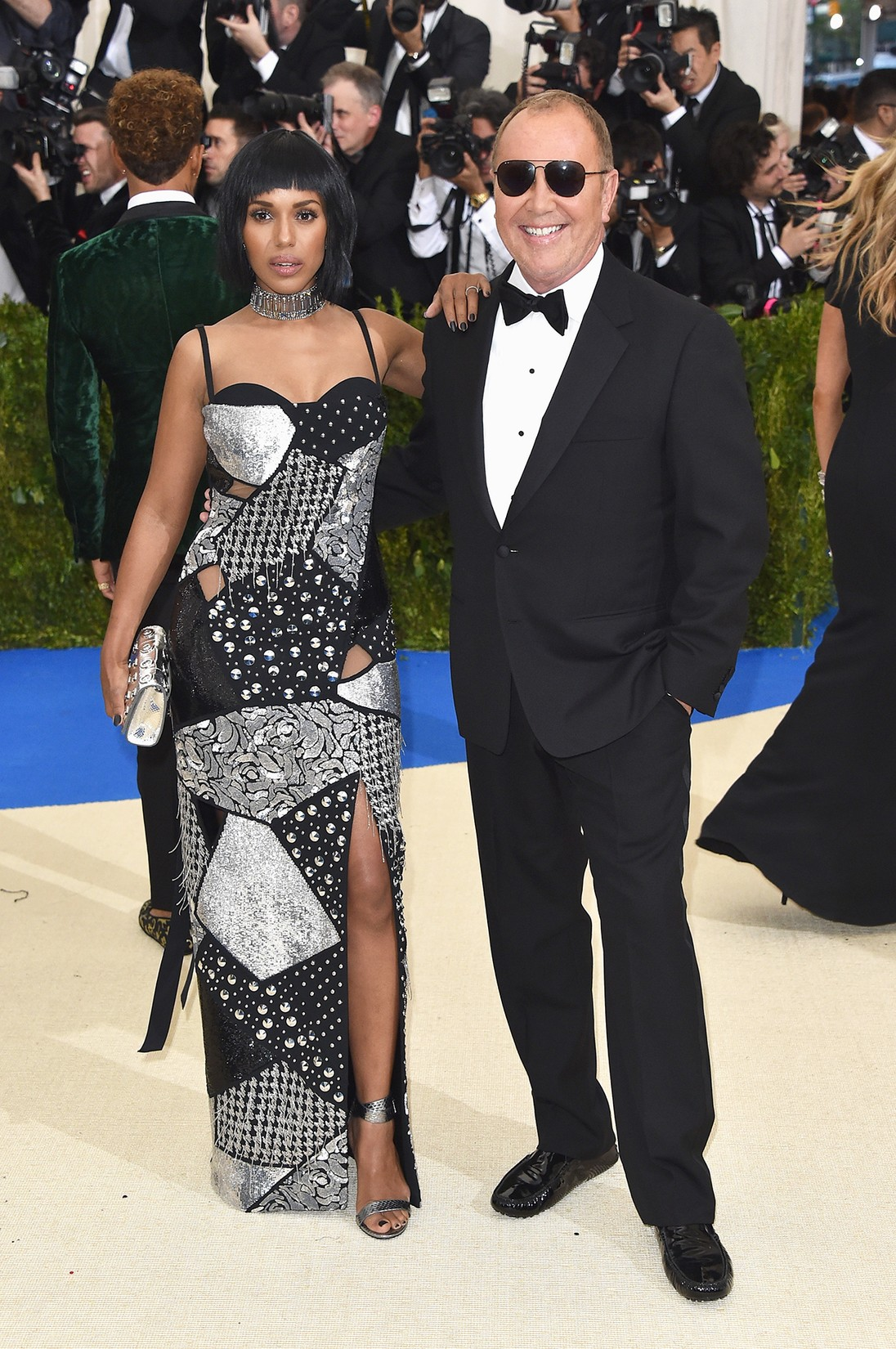 "Kerry Washington and Michael Kors attend the ""Rei Kawakubo/Comme des Garcons: Art Of The In-Between"" Costume Institute Gala at Metropolitan Museum of Art on May 1, 2017 in New York City."