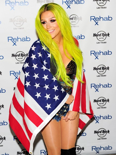 Kesha arrives at the Hard Rock Hotel & Casino during the resort's Rehab pool party on July 5, 2015 in Las Vegas, Nevada.