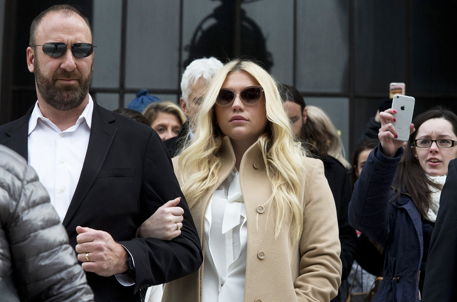 Kesha leaves the New York State Supreme Court on Feb. 19, 2016 in New York City.