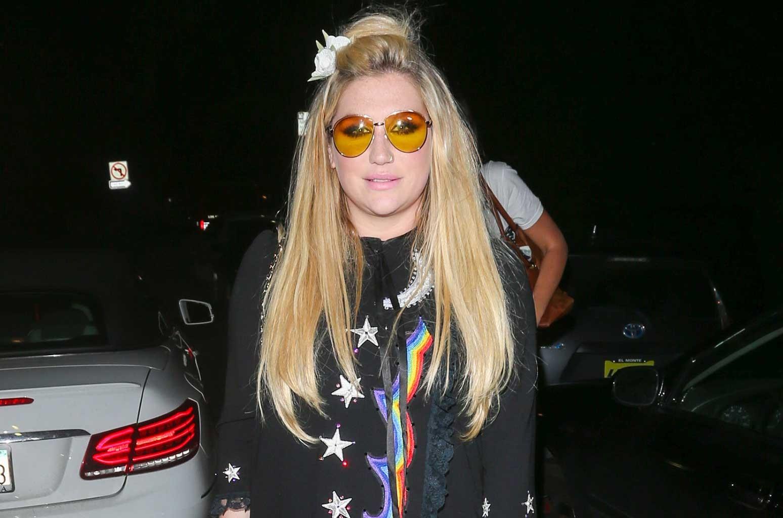 Kesha is seen on Feb. 11, 2017 in Los Angeles.