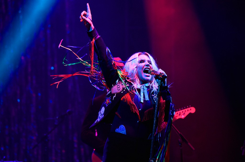 Kesha performs onstage during the 2017 Firefly Music Festival on June 17, 2017 in Dover, Del.
