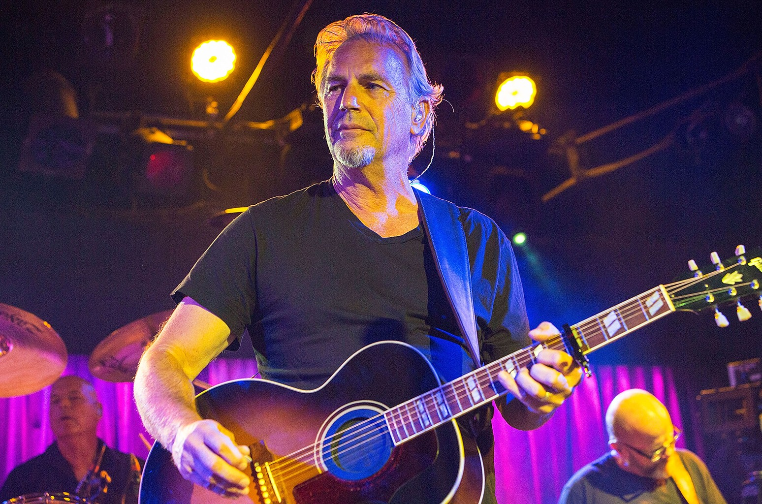 Kevin Costner performs on stage at Belly Up Tavern on Aug. 11, 2015 in Solana Beach, Calif.