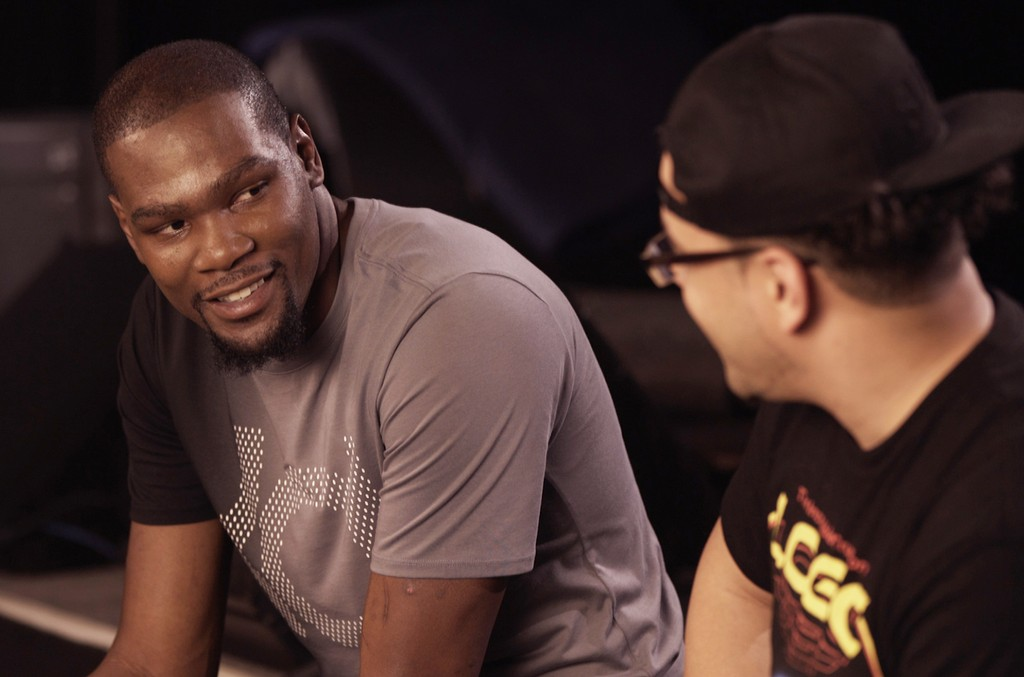 Kevin Durant during an interview with Genius.