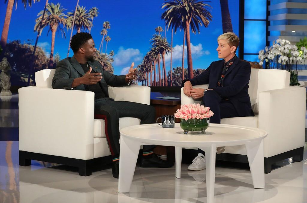 Kevin Hart on The Ellen DeGeneres Show.