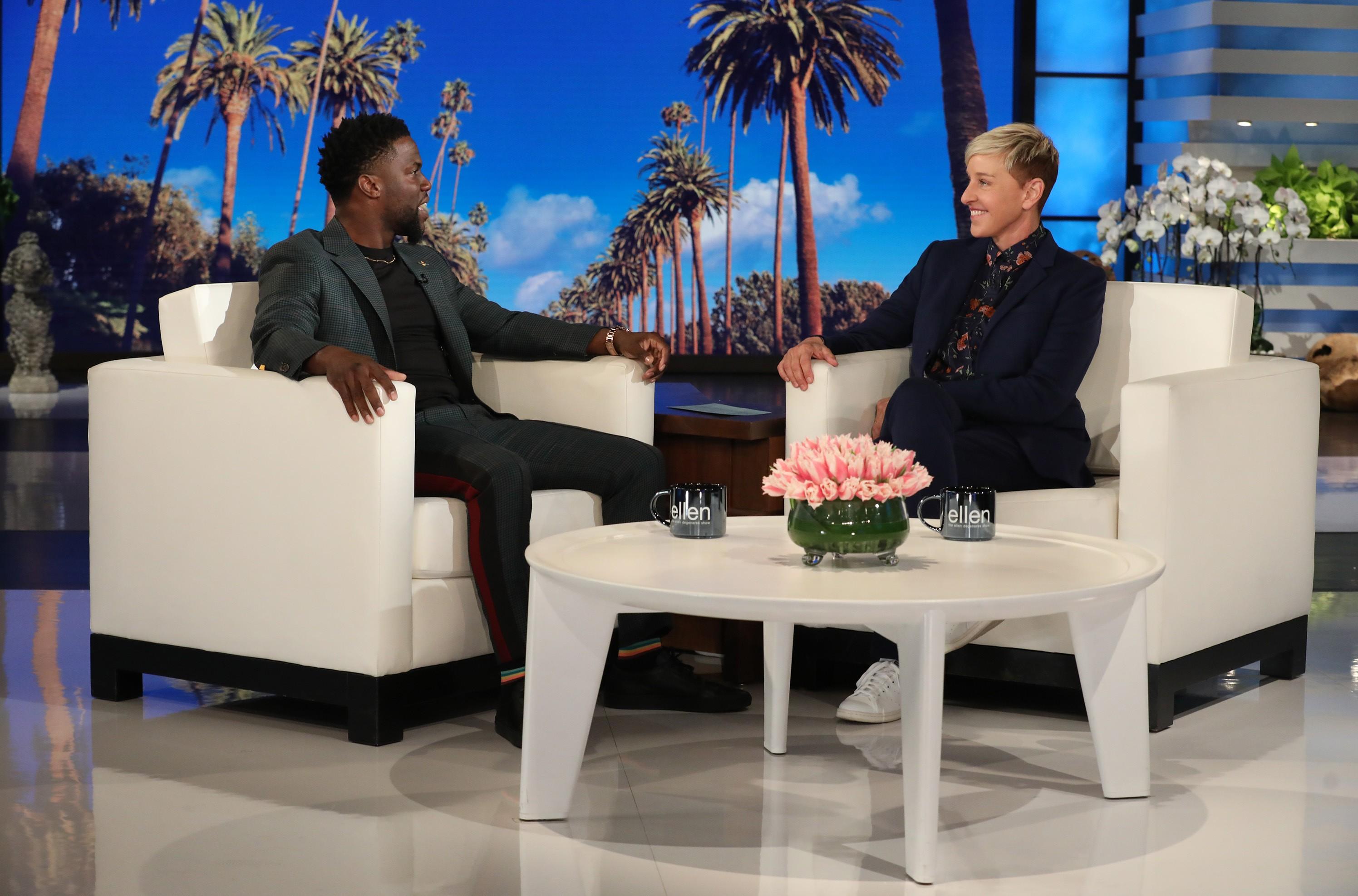 "Kevin Hart makes an appearance on ""The Ellen DeGeneres Show"" on Friday, Jan. 4, 2019"