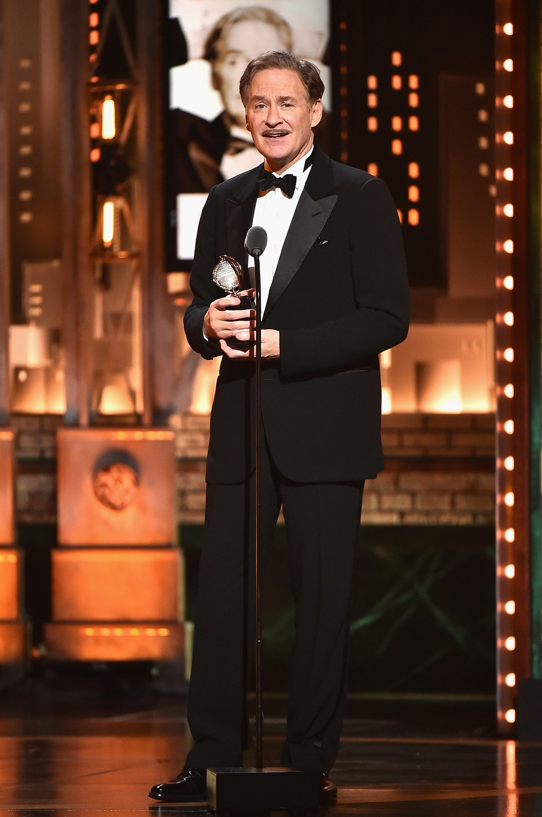 Kevin Kline accepts the award for Best Performance by an Actor in a Leading Role in a Play for ?Present Laughter? onstage during the 2017 Tony Awards at Radio City Music Hall on June 11, 2017 in New York City.