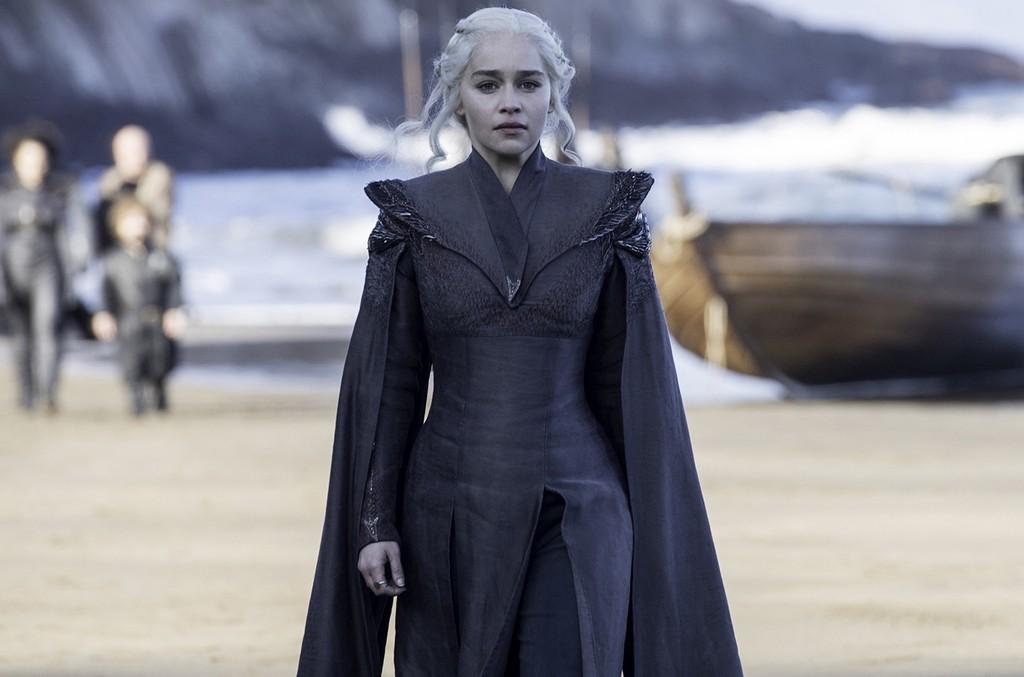 Emilia Clarke as Khaleesi on Game of Thrones.