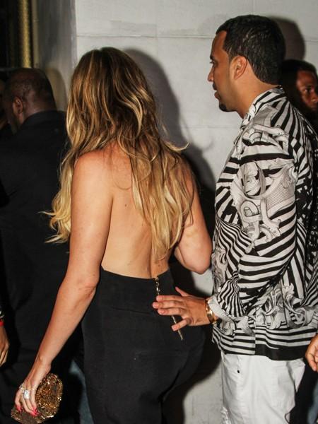 Khloe Kardashian and French Montana arrive at Dream nightclub miami