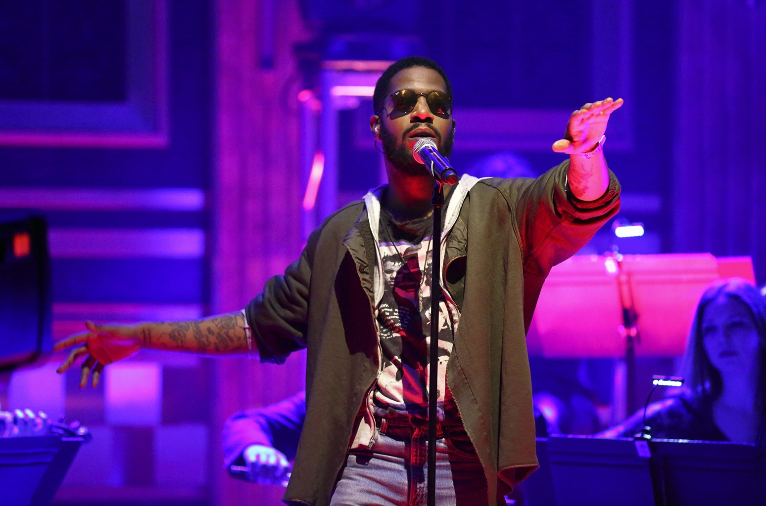 Kid Cudi performs on The Tonight Show Starring Jimmy Fallon on Feb. 8, 2017.