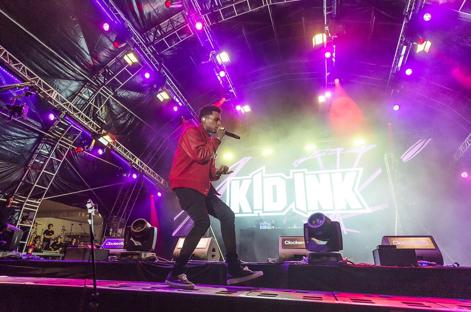Kid Ink performs at Clockenflap Hong Kong.