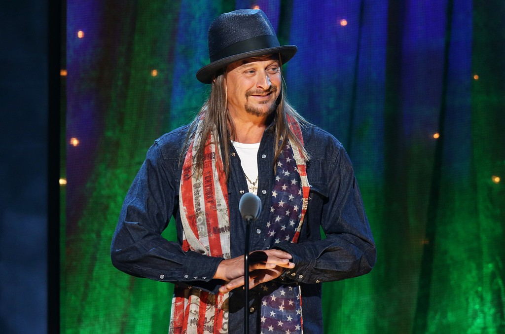 Kid Rock at the 31st Annual Rock And Roll Hall Of Fame Induction Ceremony at Barclays Center on April 8, 2016 in New York City.
