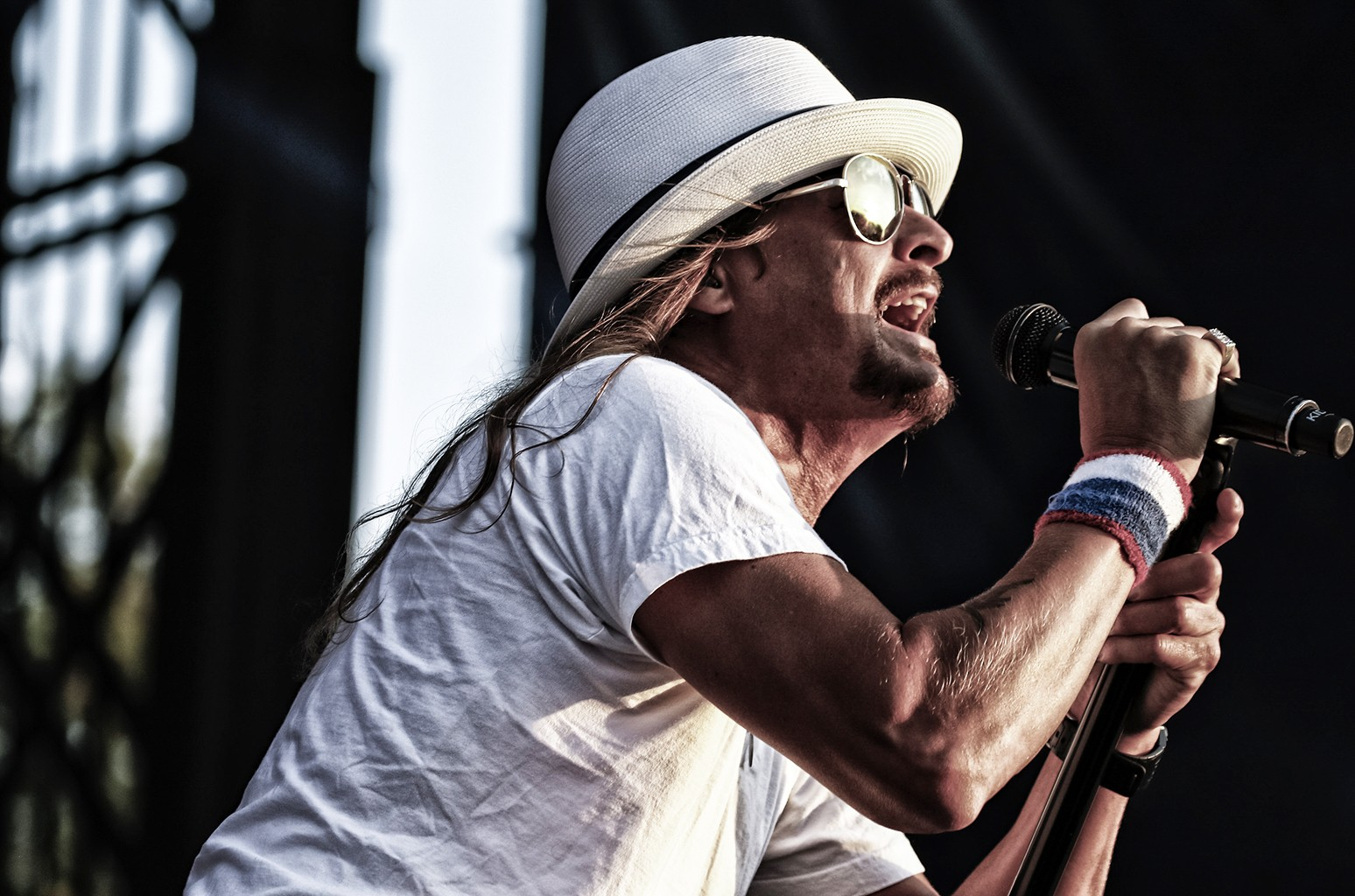 Kid Rock performs at the Indianapolis Motor Speedway
