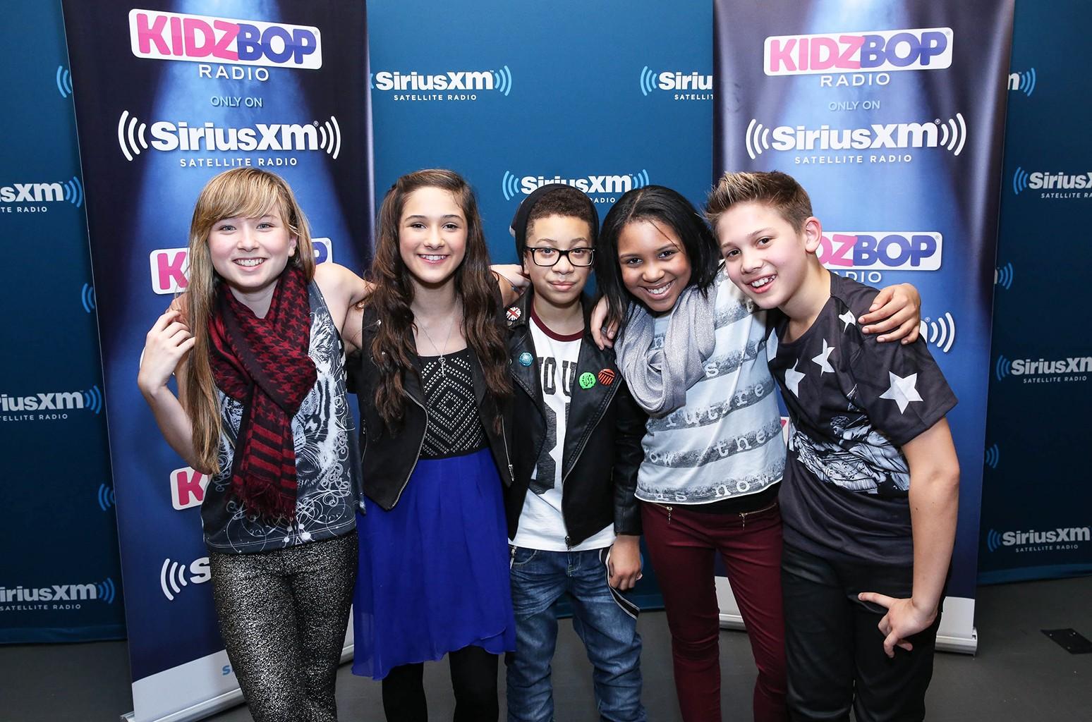 "Kidz Bop Kids perform at the SiriusXM launch of ""KIDZ BOP"" Radio at SiriusXM Studios on Jan. 14, 2014 in New York City."