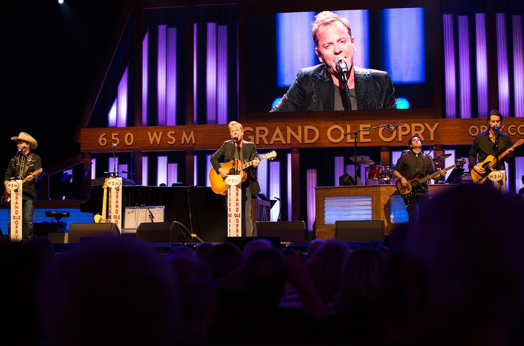 Kiefer Sutherland performs at the Grand Ole Opry