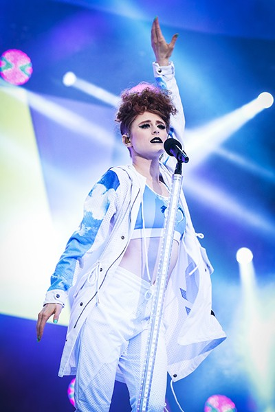 Kiesza performs during Canada Day celebrations on Parliament Hill on July 1, 2015 in Ottawa, Canada.