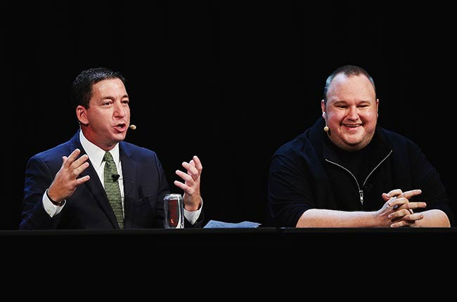 Glenn Greenwald and Kim Dotcom at Moment of Truth