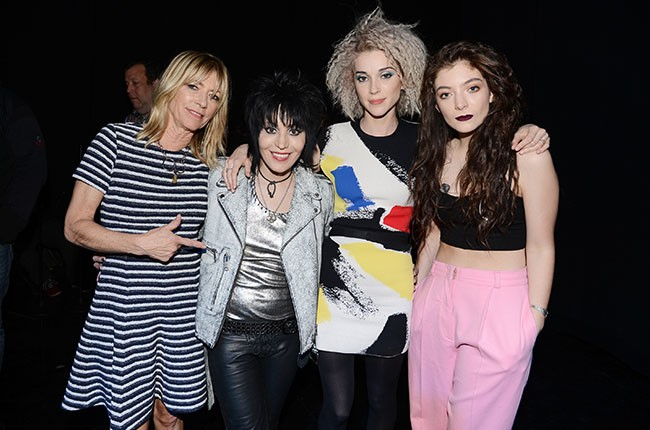 Kim Gordon, Joan Jett, Annie Clark and Lorde at the 29th Annual Rock And Roll Hall Of Fame Induction Ceremony at Barclays Center in New York