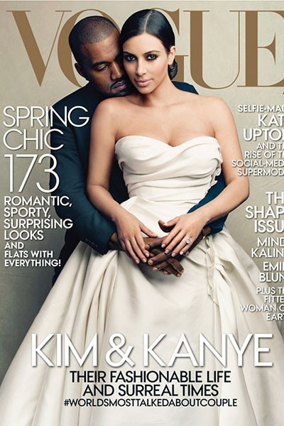 Kim and Kanye Vogue cover
