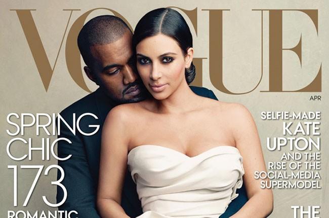 Kim and Kanye Vogue cover