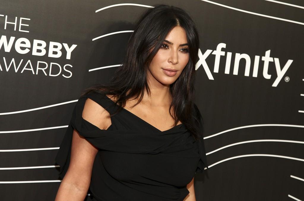 Kim Kardashian attends the 20th Annual Webby Awards