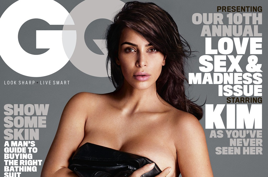 Kim Kardashian on the cover of GQ