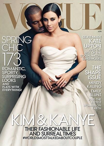 kim kardashian kanye west vogue cover 2014