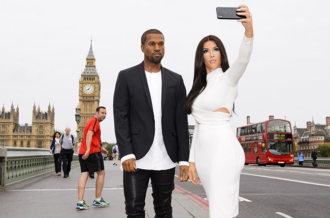 kim kardashian kanye west wax figures london 2015