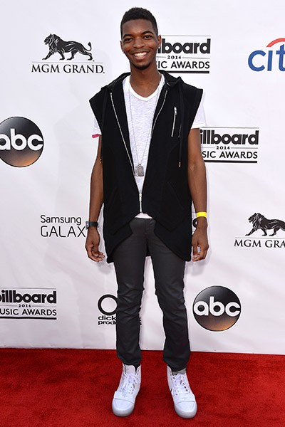 Kingsley on the red carpet at the 2014 Billboard Music Awards