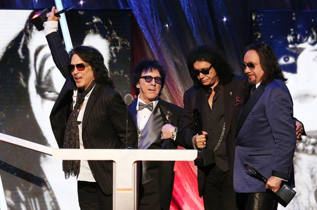 Kiss inducted into the 2014 Rock and Roll Hall of Fame