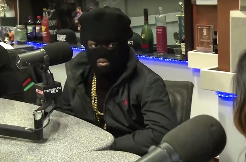 Kodak Black during an interview with the Breakfast Club